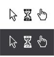 Cursors set Arrow clock hand vector image
