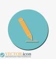 pen or pencil writing on a sheet vector image
