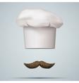 Symbol of chef cap toque and mustache vector image