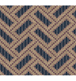 Style Seamless Brown Blue Yellow Color Knitted Pat vector image