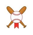 Baseball with bats icon cartoon style vector image