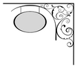 Decorative board vector image