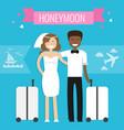 honeymoon concept wedding couple vector image