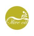 olive oil label design text icon vector image