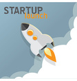startup launch rocket concept in flat design vector image