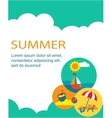SUMMER TIME holiday card vector image