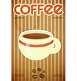 Template menu of coffee vector image