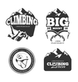 Vintage mountain climbing logo and labels vector image