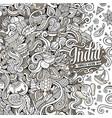 cartoon hand-drawn doodles india vector image
