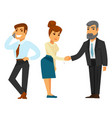 businessmen and businesswoman in formal clothes vector image