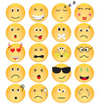 Set of Emotion Icons vector image