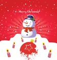 Merry Christmas Art Poster vector image vector image