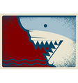 Shark poster background for design vector image vector image