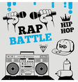 Rap battle hip-hop breakdance music element vector image