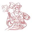 fireman2 resize vector image