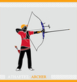 Athlete Archer vector image