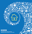 House sign symbol Nice set of beautiful icons vector image