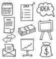 doodle of style object business vector image