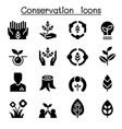 eco friendly conservation icon set graphic design vector image
