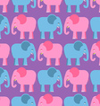Elephants seamless pattern Blue and pink animals vector image