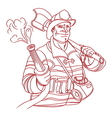 fireman2 resize vector image