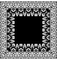 Floral border frieze frame vector image