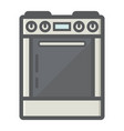 gas stove colorful line icon kitchen appliance vector image