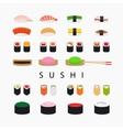 Japanese sushi icons vector image