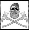 lumberjack effective poster vector image
