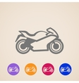motorcycle icons vector image