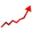Red finance chart vector image