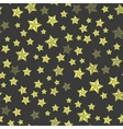 Set of Yellow Stars Seamless Starry Pattern vector image