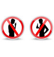 signs prohibiting smoking and drinking alcohol vector image