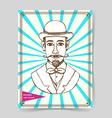Sketch man in hat vector image