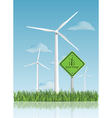wind turbine field vector image