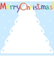 Styled Christmas tree on blue background vector image