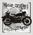 Motorcycle urban style vector image