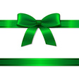 Green Ribbon And Bow vector image vector image