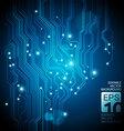 neon circuit vector image