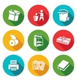 Waste paper Icons Set vector image
