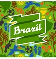 Brazil background with stylized objects and vector image vector image