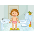 Child in bathroom vector image vector image