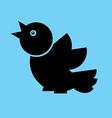 bird Flat Twitter vector image