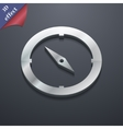 Compass icon symbol 3D style Trendy modern design vector image