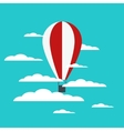 hot air balloon with clouds vector image