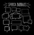 square speech bubbles-03 vector image