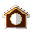 stable manger isolated icon vector image