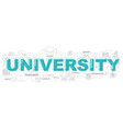 university icons for education graphic vector image