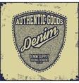 Vintage Denim typography grunge t-shirt graphics vector image