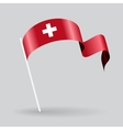 Swiss wavy flag vector image